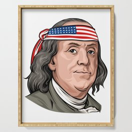Benjamin Franklin 4th Of July Independence Day American Serving Tray