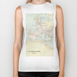 Vintage Map Of The Roman Empire Biker Tank