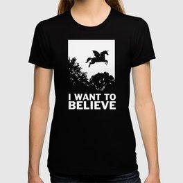 I Want To Believe Unicorns T-shirt