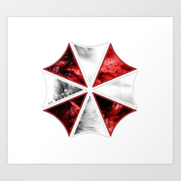 Resident Evil Umbrella Art Print