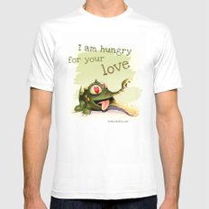 I am hungry for your love Mens Fitted Tee MEDIUM White