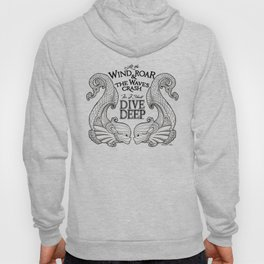 Dive Deep - Black and White Hoody