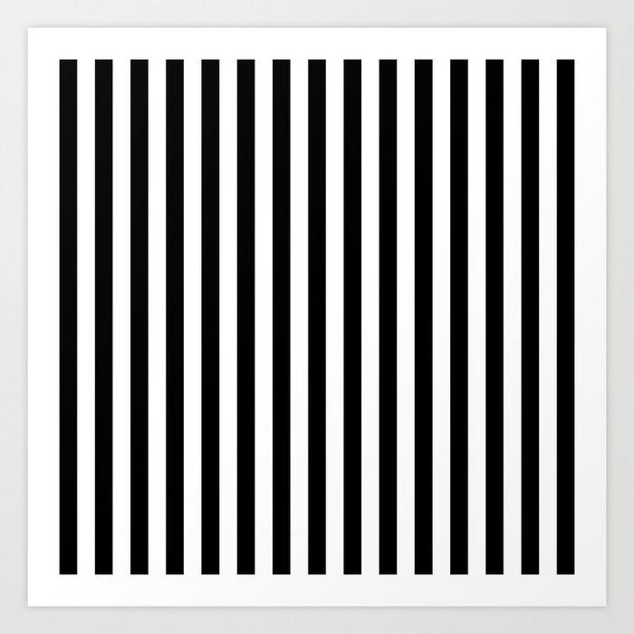 Stripe Black And White Vertical Line Bold Minimalism Stripes Lines Kunstdrucke