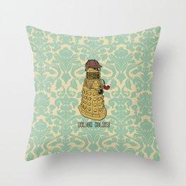 Dalock Holmes - the Sherlock Dalek!  Throw Pillow