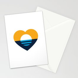 Heart of MKE - People's Flag of Milwaukee Stationery Cards
