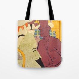 """Henri de Toulouse-Lautrec """"Flirt"""" Tote Bag"""