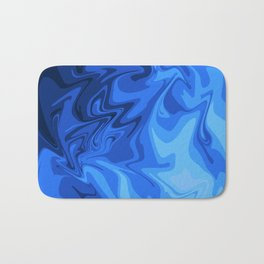 Liquid Blue - Dark Blue Pattern Bath Mat