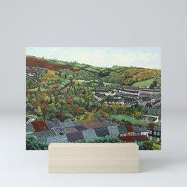 Pontypridd (featuring Sardis Road Rugby Ground) Mini Art Print