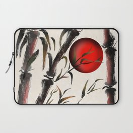 Sumi-e bamboo forest Laptop Sleeve