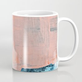 Delight [3]: a vibrant minimal abstract painting in blue and coral by Alyssa Hamilton Art Coffee Mug