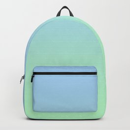 Baby Blue to Mint Green Linear Gradient Backpack
