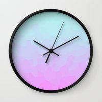 gradient Wall Clocks featuring gradient by Blancamccord