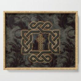 Decorative celtic knot, vintage design Serving Tray
