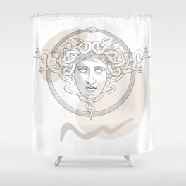 medusa / Classical Greek minimal Shower Curtain