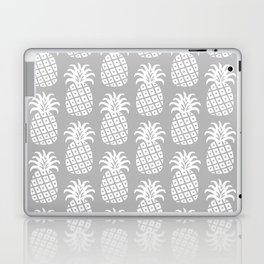 Mid Century Modern Pineapple Pattern Grey Laptop & iPad Skin