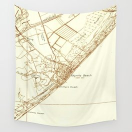 Vintage Map of Myrtle Beach South Carolina (1937) Wall Tapestry