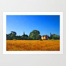 Provence Landscape Art Print
