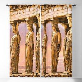Porch of the Caryatids, Temple of Athena, Acropolis, Greece Portrait Painting Blackout Curtain