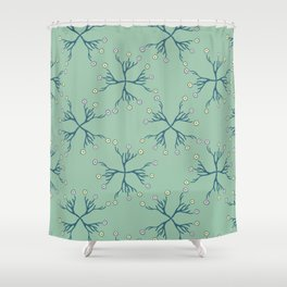 Spring Flower Daisy Bouquet Seamless Pattern Shower Curtain