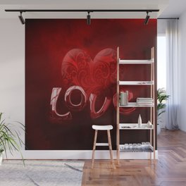 Bold, Red Hot Love Wall Mural