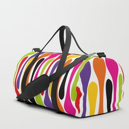 Colorful Painted Stripes Duffle Bag