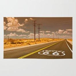 U.S. Route 66 highway. Rug