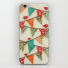 Home Birds 'N' Bunting. iPhone Skin