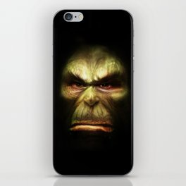 Orc face iPhone Skin