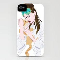 Holly Golightly's cat / Audrey Hepburn iPhone (4, 4s) Slim Case
