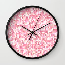 Solid arrows in soft pink shades, cute baby flush pink pattern Wall Clock