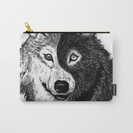 Ying Yang Wolf Carry-All Pouch