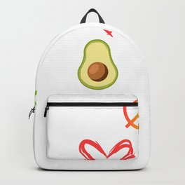 "This ""Peace Love Avocados""  Inspired Design Is A Perfect Gift For Anyone Who Loves Guacamole Backpack"