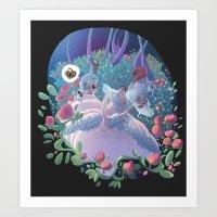 marie antoinette Art Prints featuring Marie Antoinette by FantaFumino