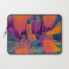 Wind Blows Over California Poppies Laptop Sleeve