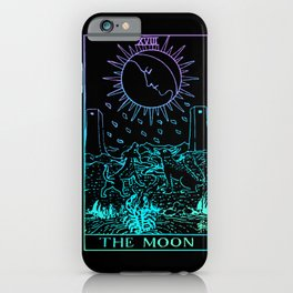 The Moon Tarot Card Rider Waite Witchy iPhone Case