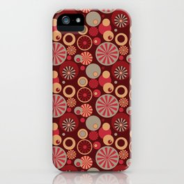 Circle Frenzy - Red iPhone Case