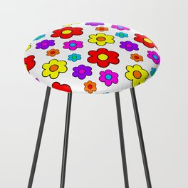 Pop Flowers Counter Stool