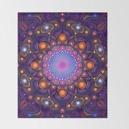 """Guardian"" Mandala painting Throw Blanket"