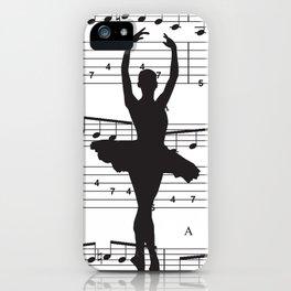 ballerina art, music Notes , girls nursery art, ballerina décor , girls nursery art , iPhone Case