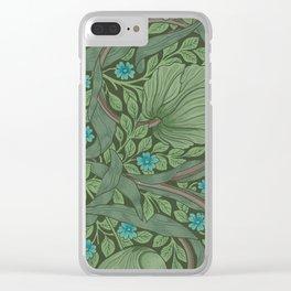 "William Morris ""Forget-Me-Nots"" (""Pimpernel"" detail) Clear iPhone Case"