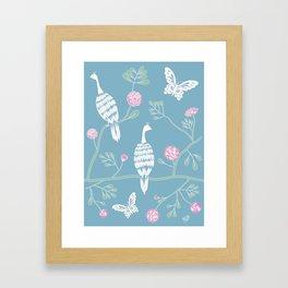 Spring Peacocks Framed Art Print