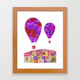 Bear and Butterflies Framed Art Print