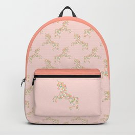 Floral Unicorn in Pink Backpack