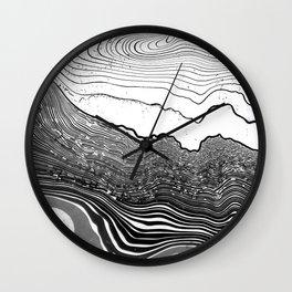 suminagashi Wall Clock
