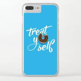 Treat Yo' Self Donut Clear iPhone Case