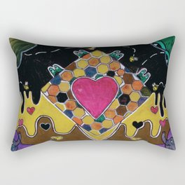 The Adventures of Co-Vid Frog: The Hive (12:15) Rectangular Pillow