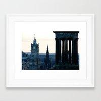 edinburgh Framed Art Prints featuring Edinburgh by Joao Mendes