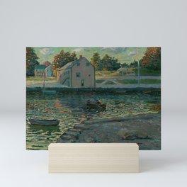 Ernest Lawson -  Old Stone Bridge, Oil on Canvas, Ernest Lawson, American Mini Art Print