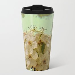 Spring Flowers on mint green background A377 Travel Mug