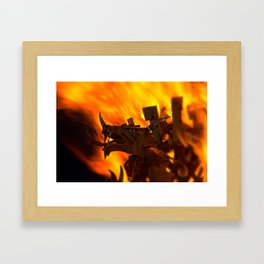 Rising From The Flames Framed Art Print